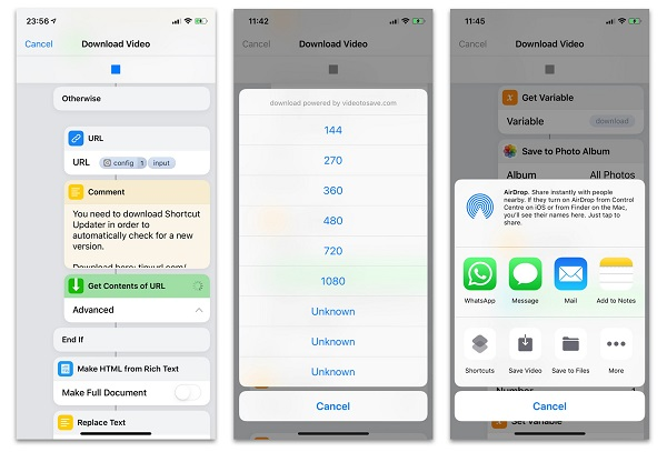 Download video Facebook, Intagram, Twitter bằng Shortcuts trên iOS 12