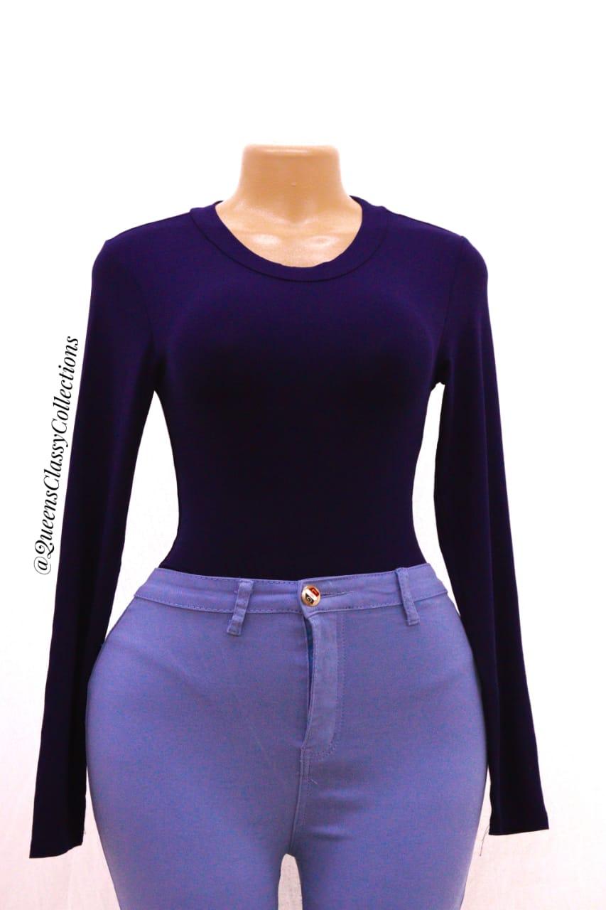 Round Neck Long sleeved Bodysuit