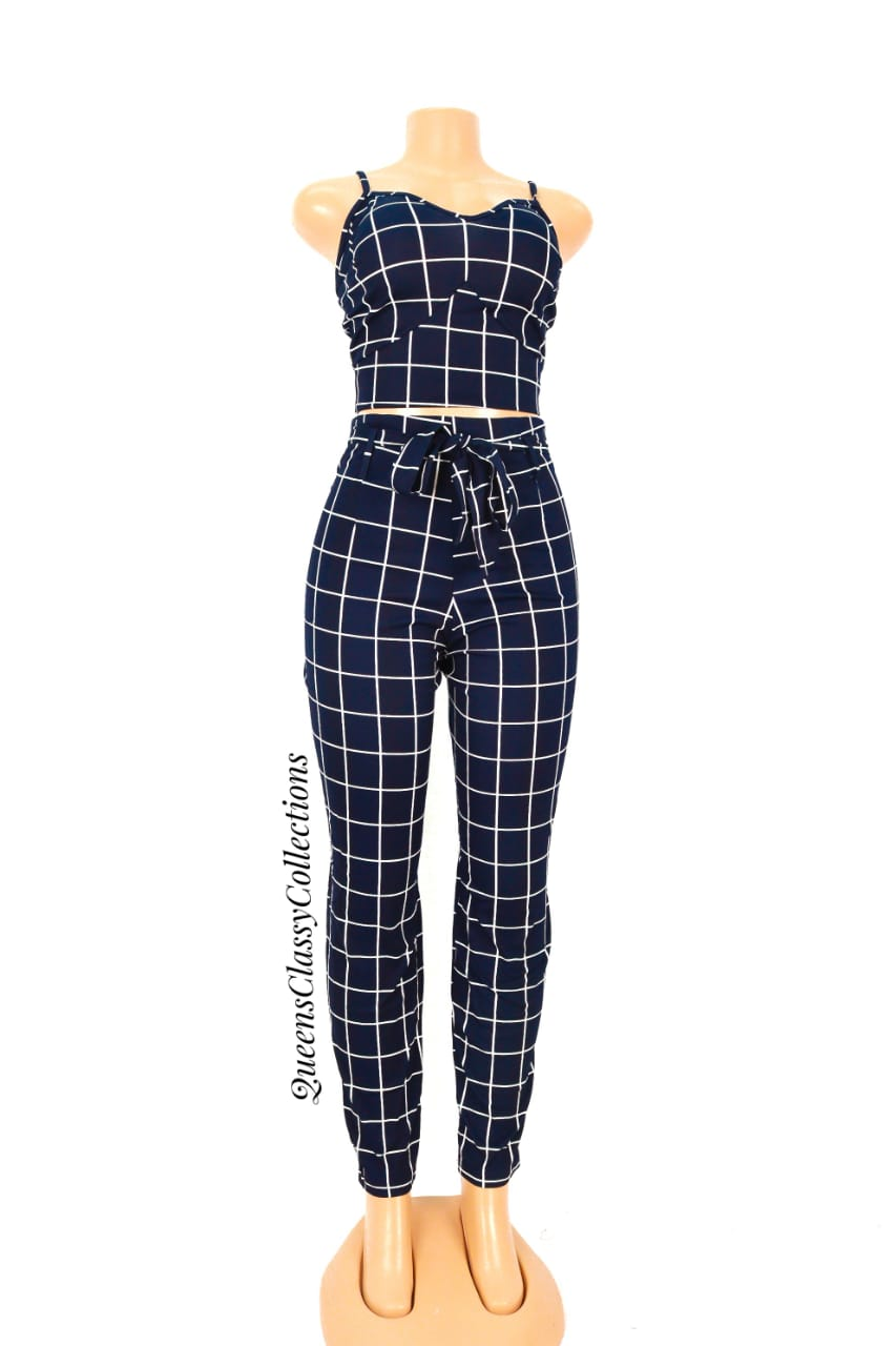 Crop top boxes two piece