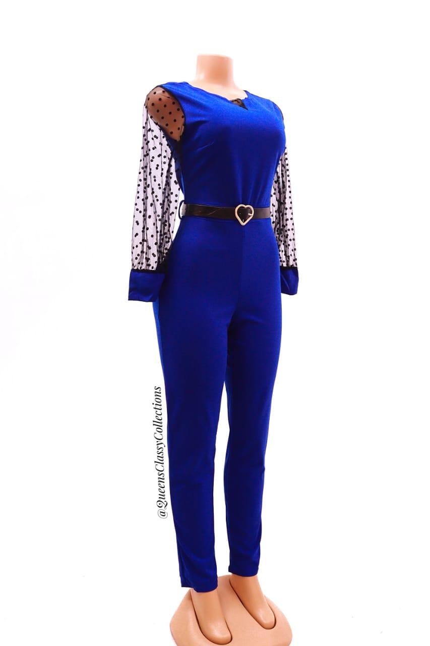 Official Lace Arm Jumpsuit