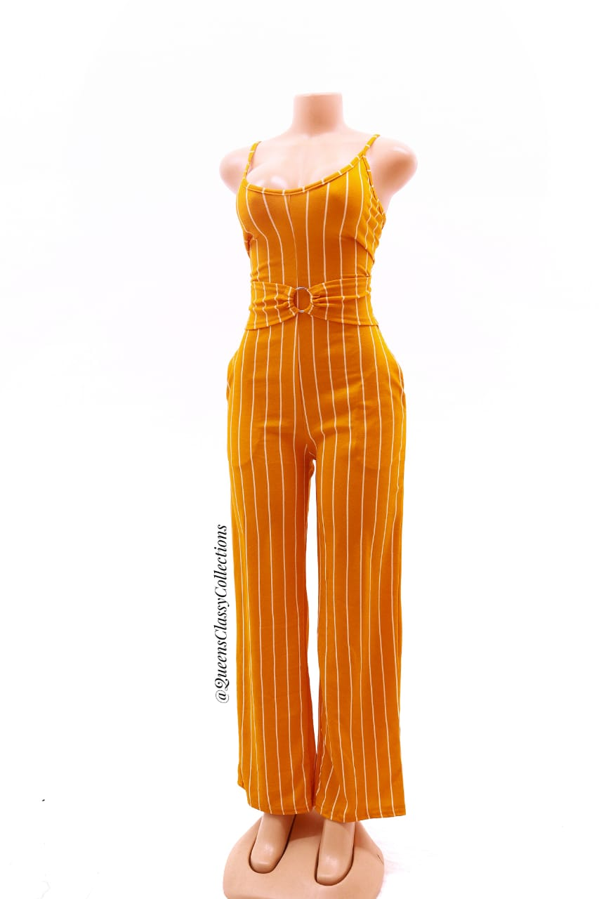 Stripped Ring Jumpsuit