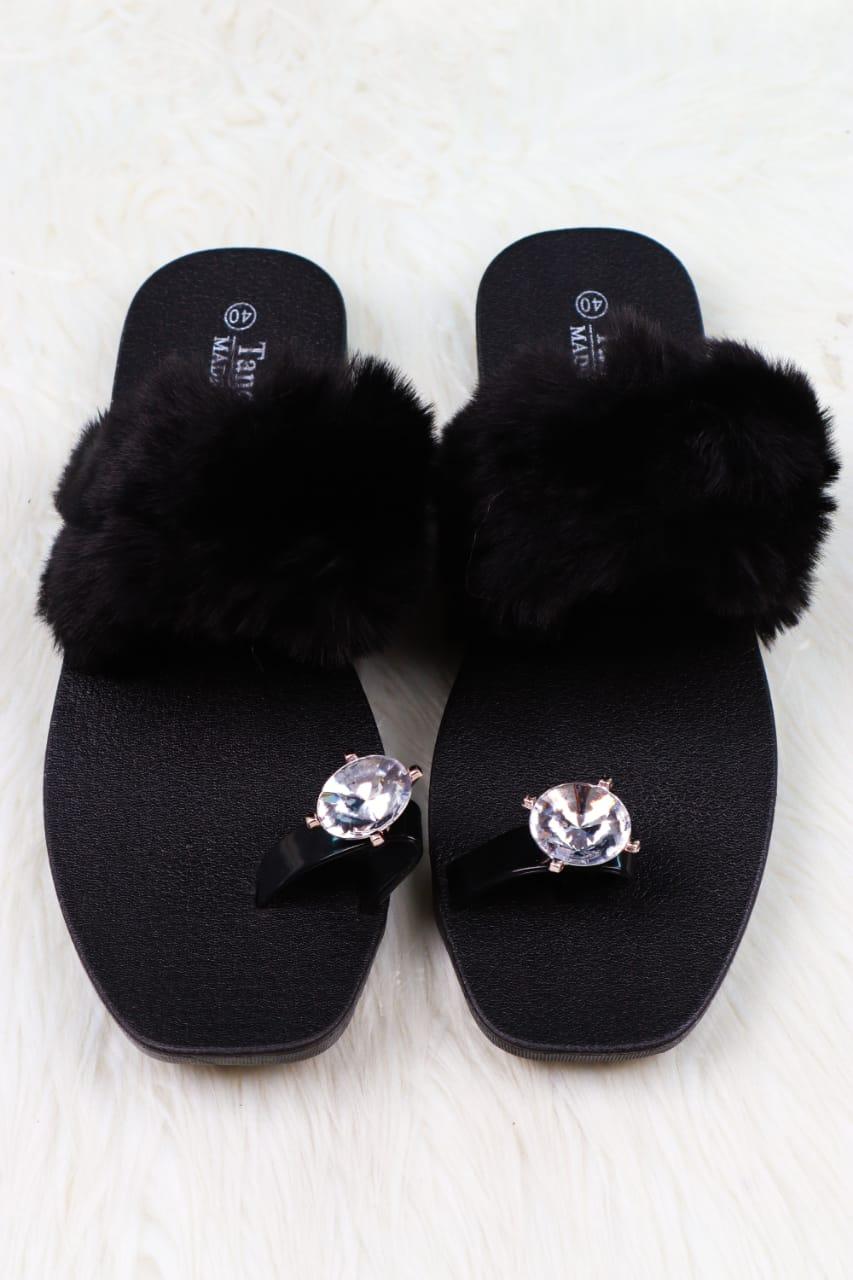 Silver Button Sandal