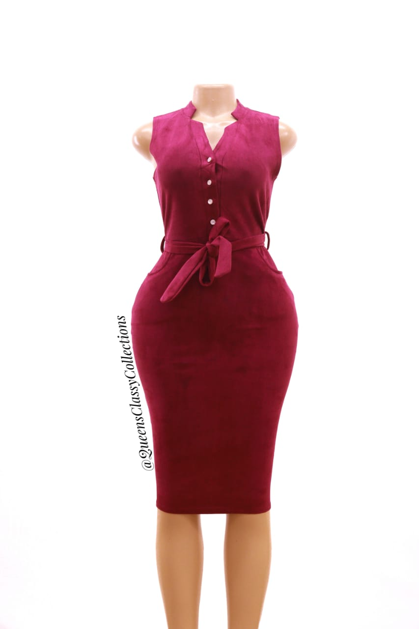 Front Button Suede Body..