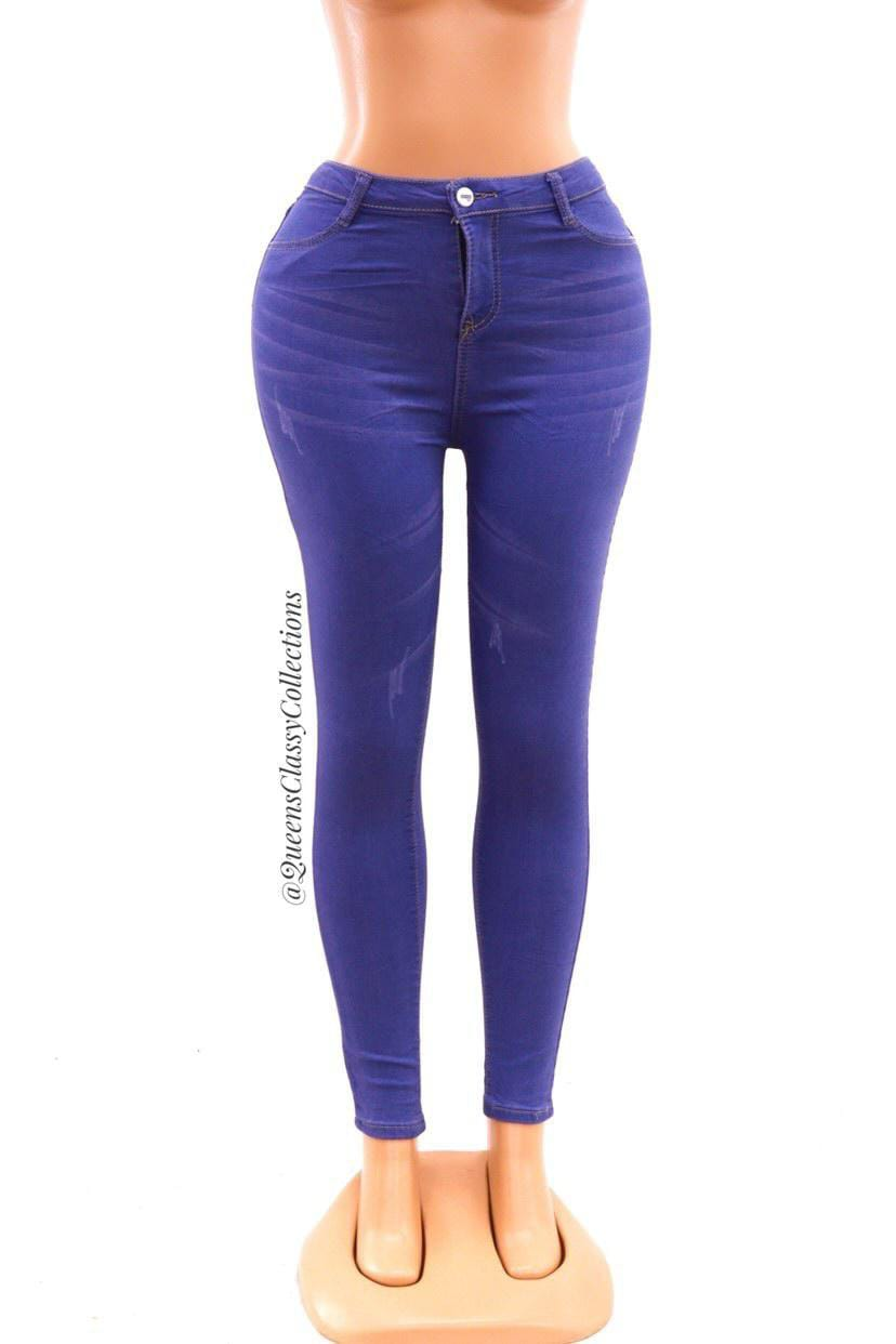 Smooth shape denim jeans