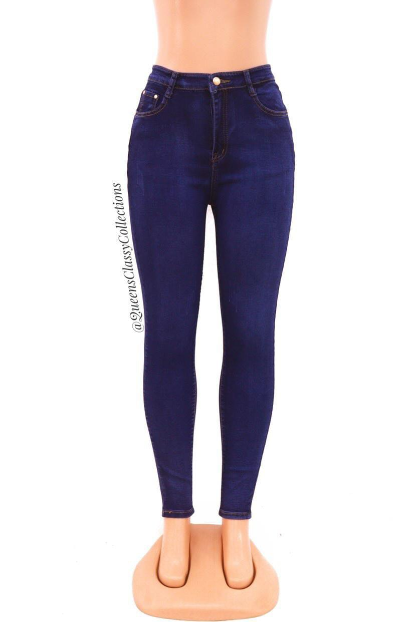 Classy button denim jeans