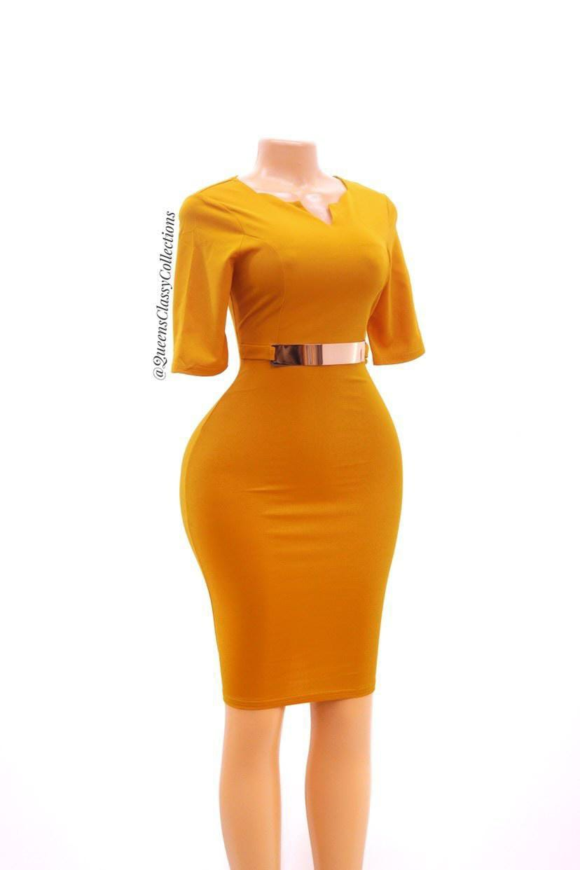 Gold belt official bodycon
