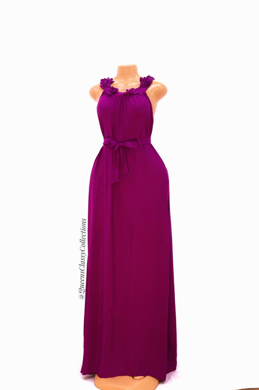 Plain Cotton Maxi Dress