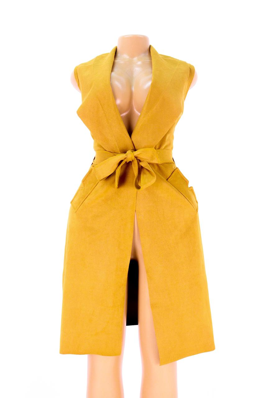 Sleeveless Suede Coats