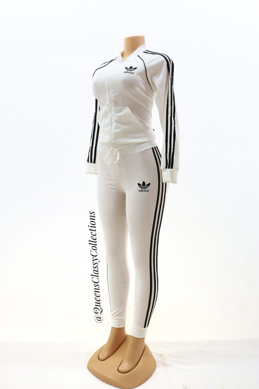 Front zip adidas two piece set