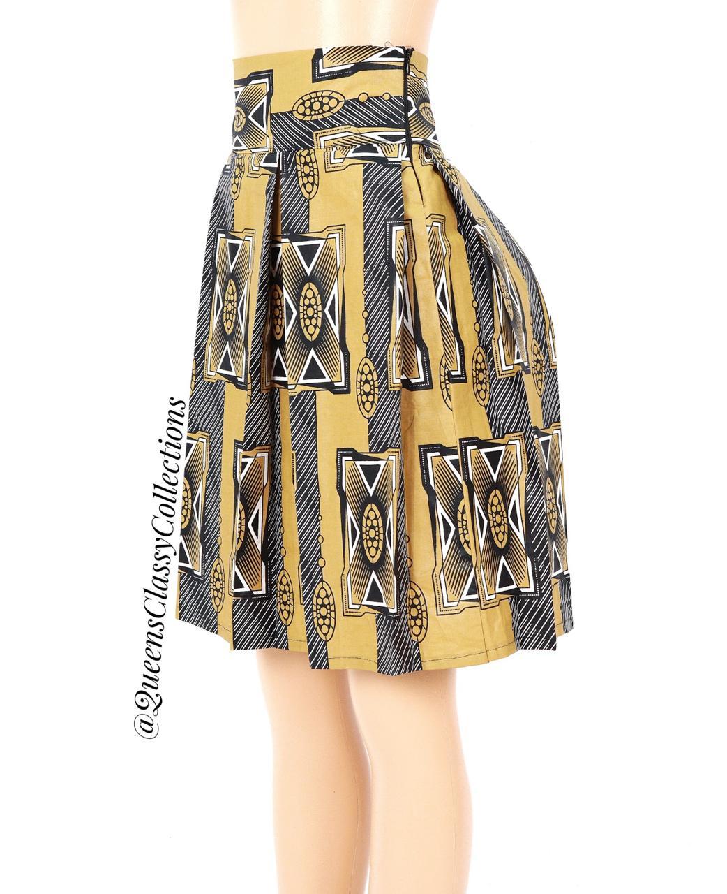 Kitenge Skater Skirt