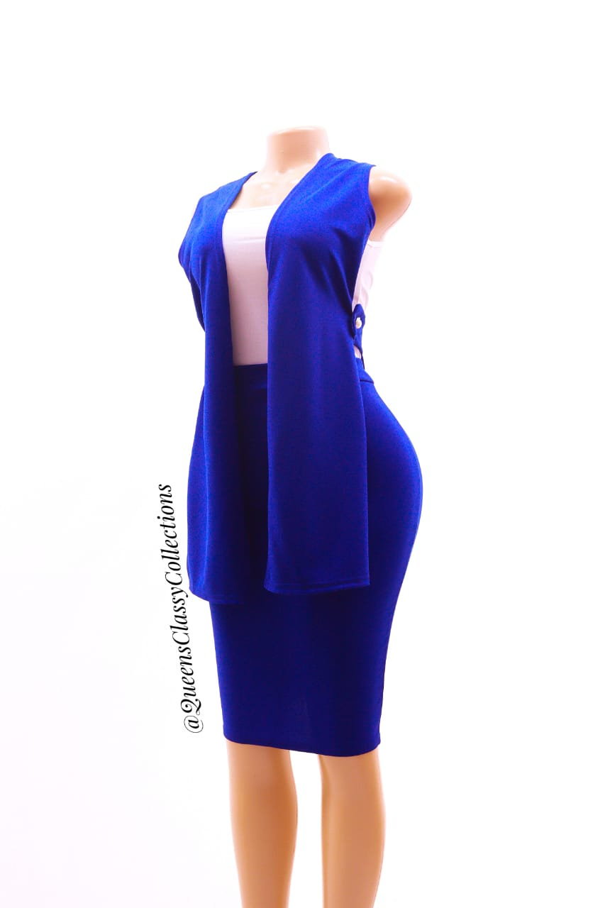 Plain Three piece skirt Set