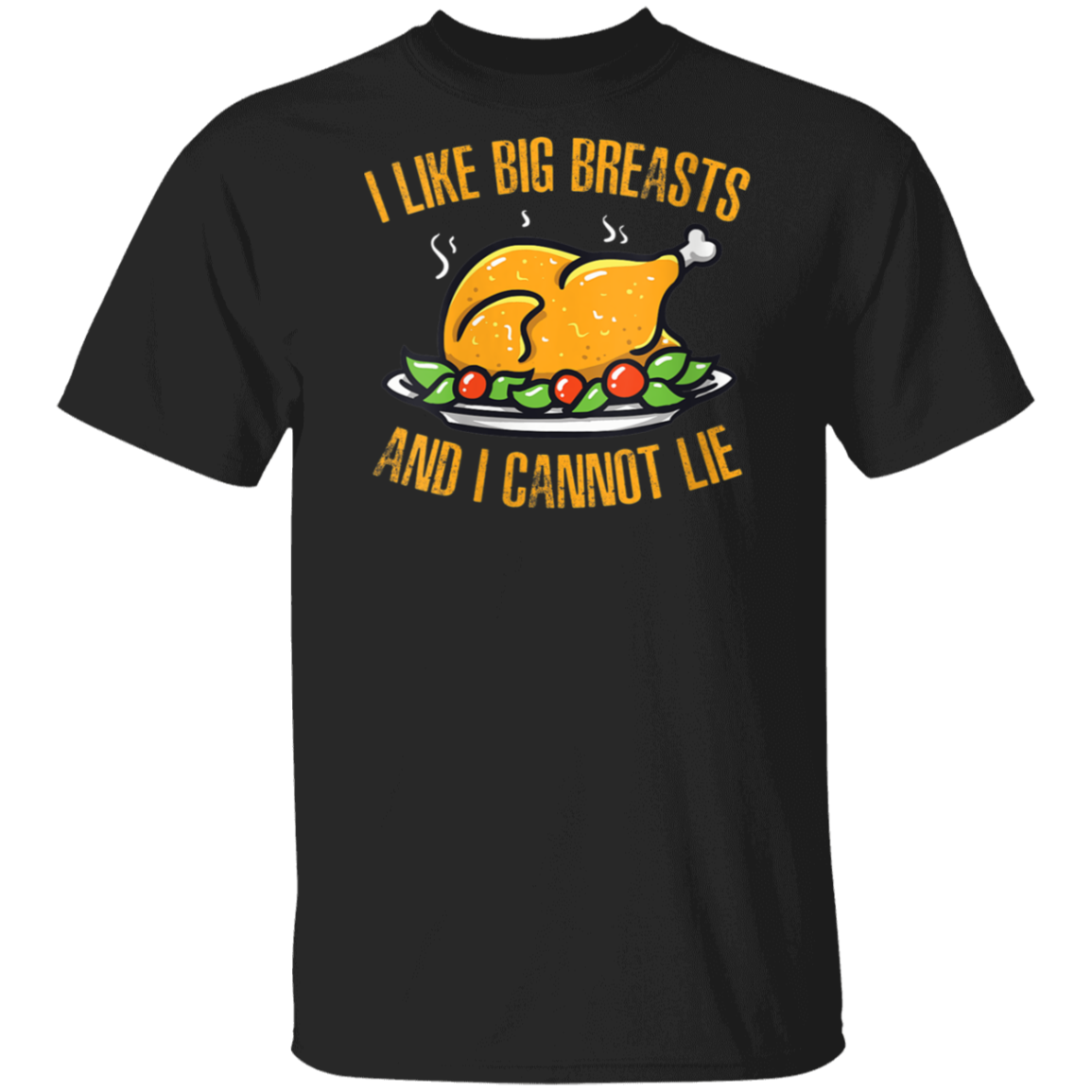 Womens Thankgiving Funny Breast graphic Gift for Thanksgiving V-Neck T-Shirt