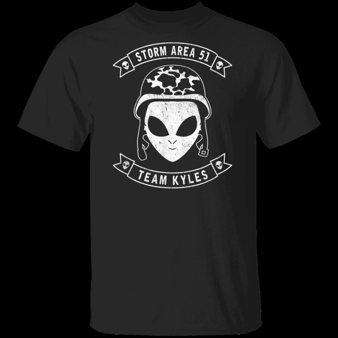 Storm Area 51 – Team Kyles – Camo Military Alien  T-Shirt