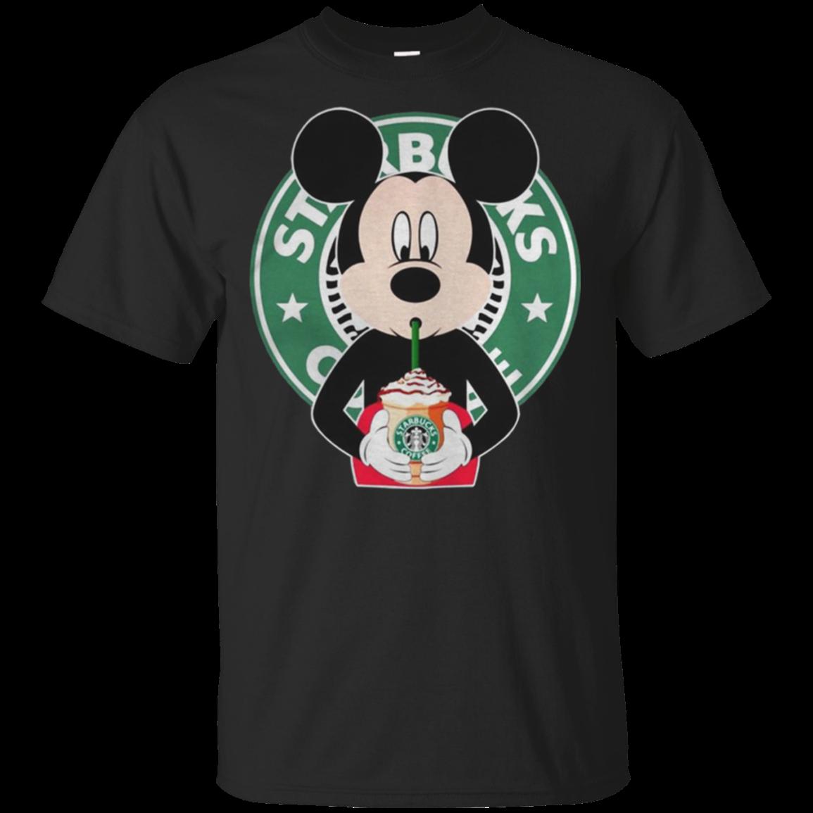 Mickey Mouse drinks Starbucks coffee shirt t shirt