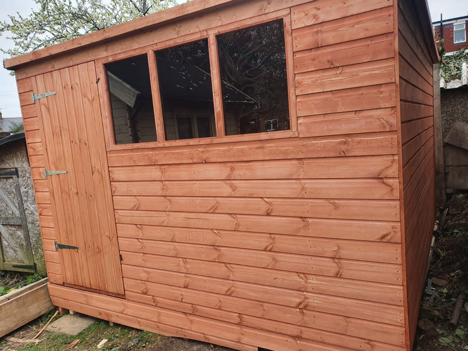 Wooden Garden Tool Shed - Pent A