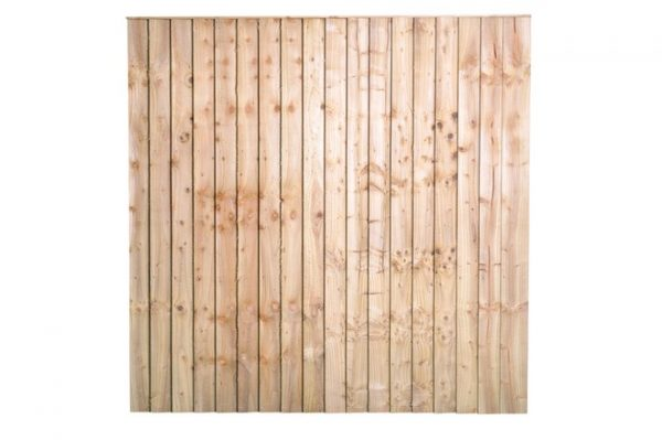 Feather Edge Fence Panel - Pressure Treated - Green