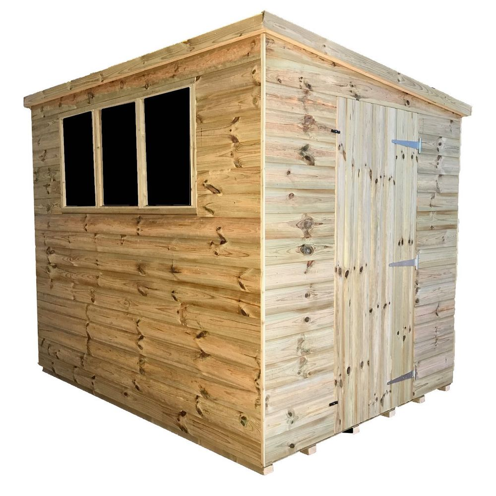 Tanalised Garden Shed - TITAN 2 Pent D