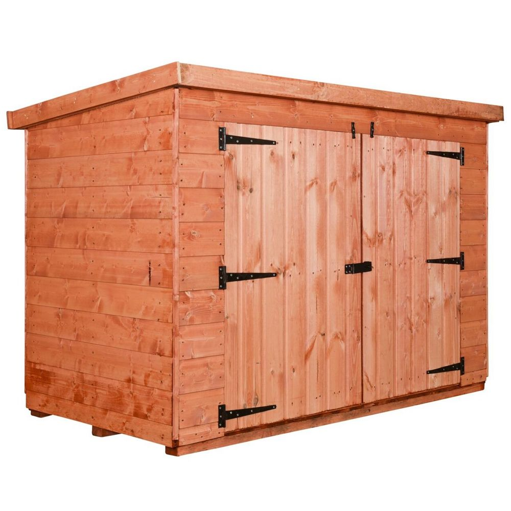 Pent Wooden Bike Shed or Bin Store
