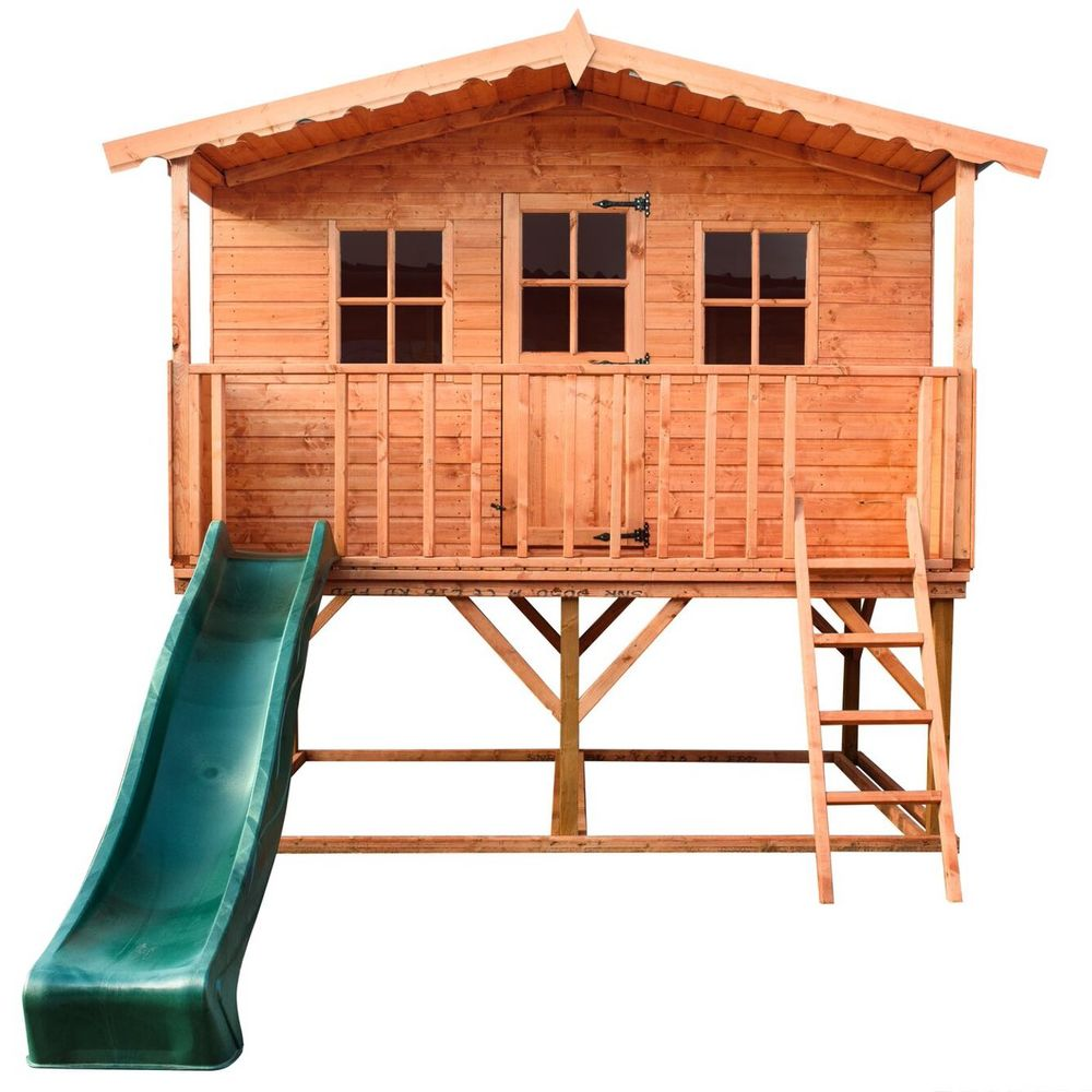 The Rose Tower Wooden Playhouse 10 x 6