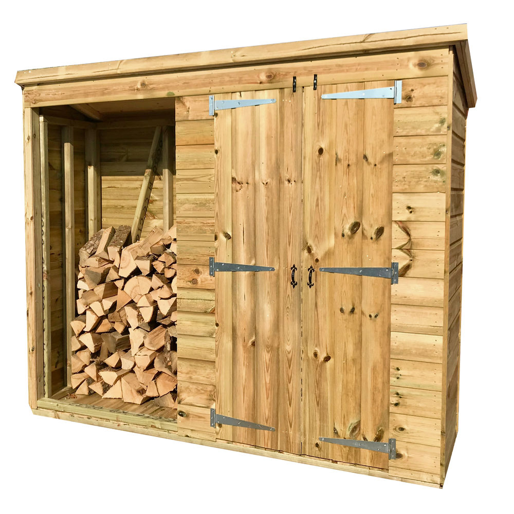 7 x 2 Pressure Treated Log Shed Combo One Size