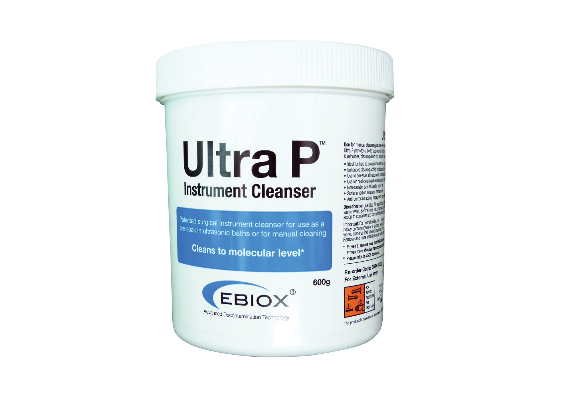 Instrument Cleaning - Ebiox Ultra - 600g -Tub - PPE