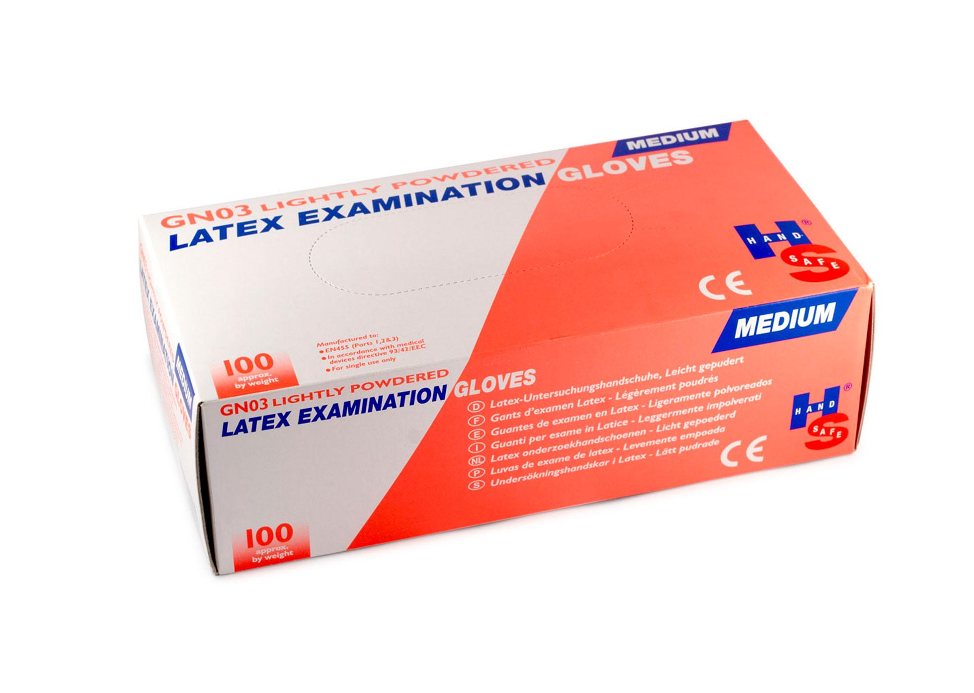 Sterile Latex Gloves - Pair - Size - Medium - PPE