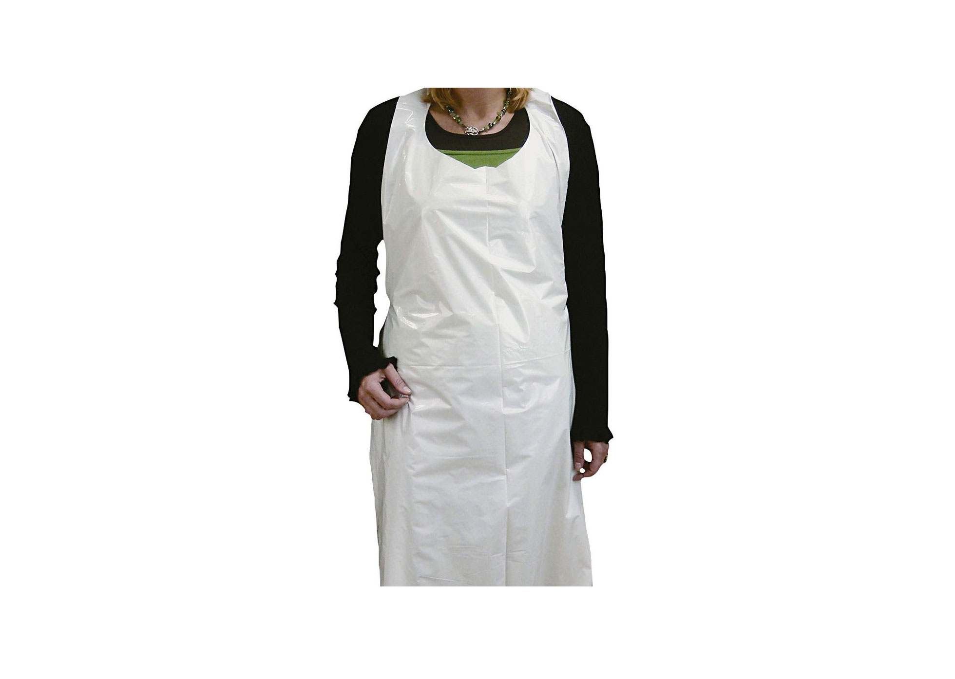 """White Disposable Apron - Aprons - Pack of 100 - 27"""" x 42"""" - PPE"""