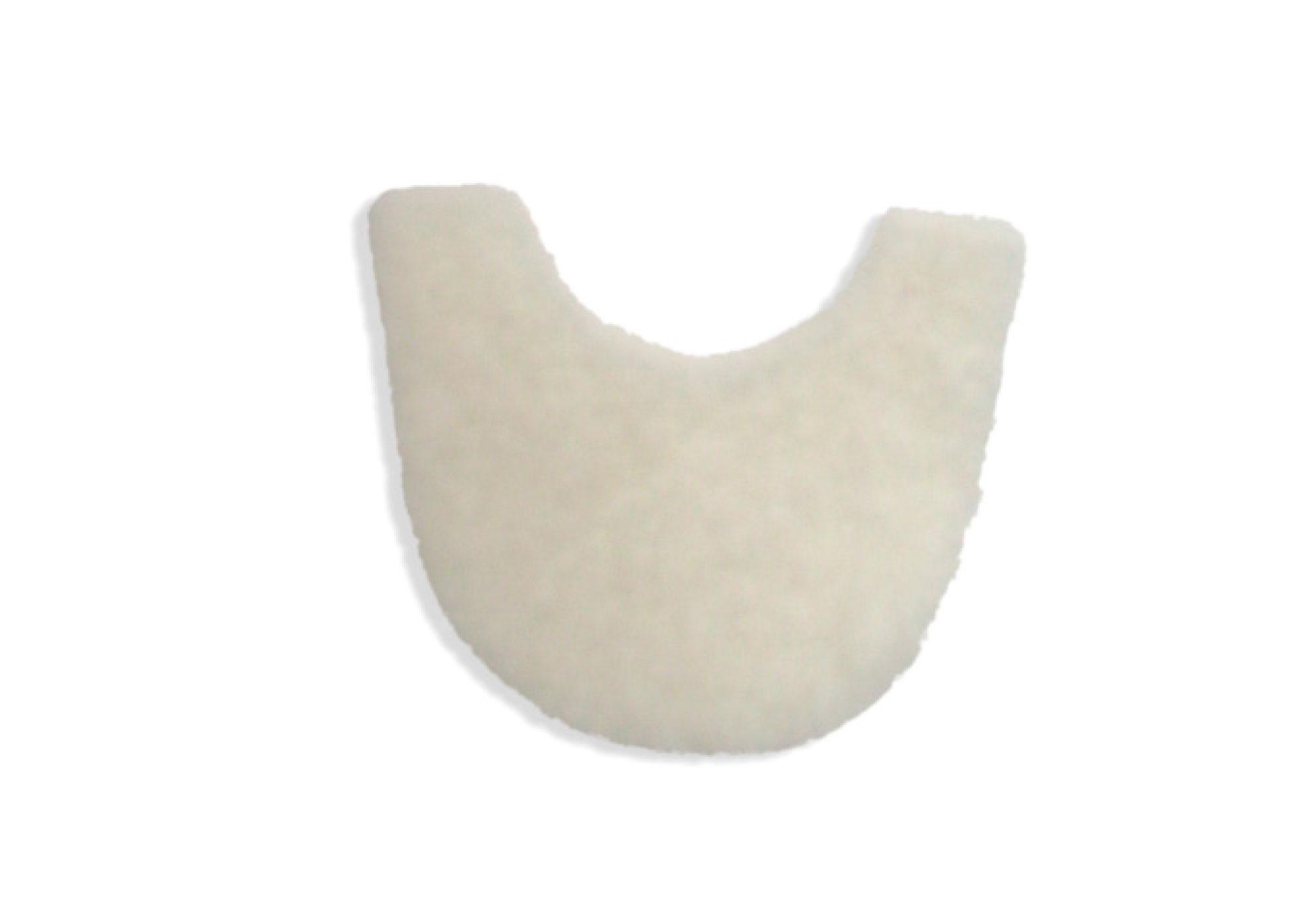 White Wool Felt - Crescent Corn