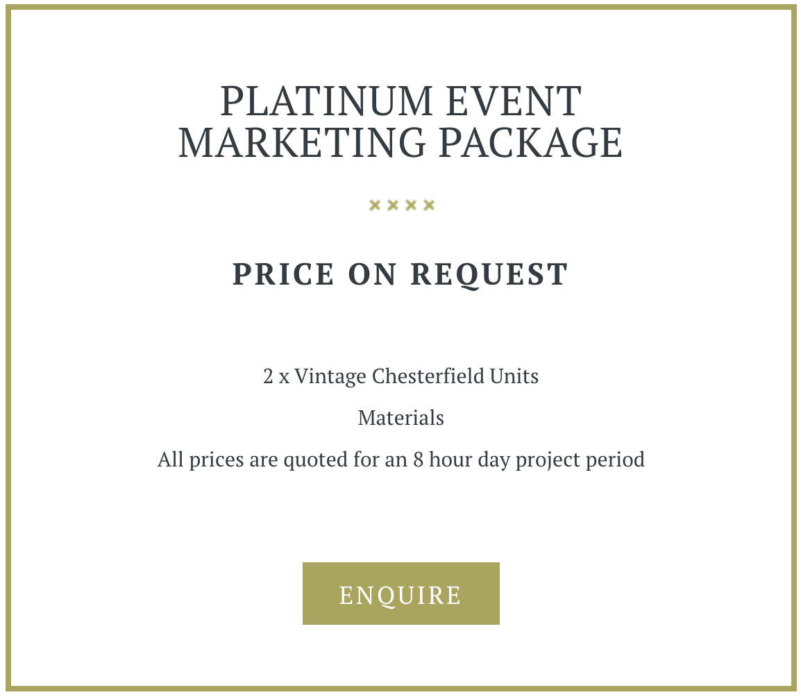 Platinum Marketing Event Package