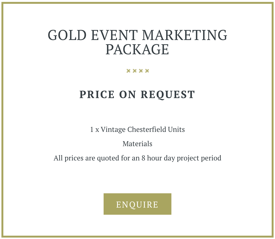 Gold Marketing Event Package
