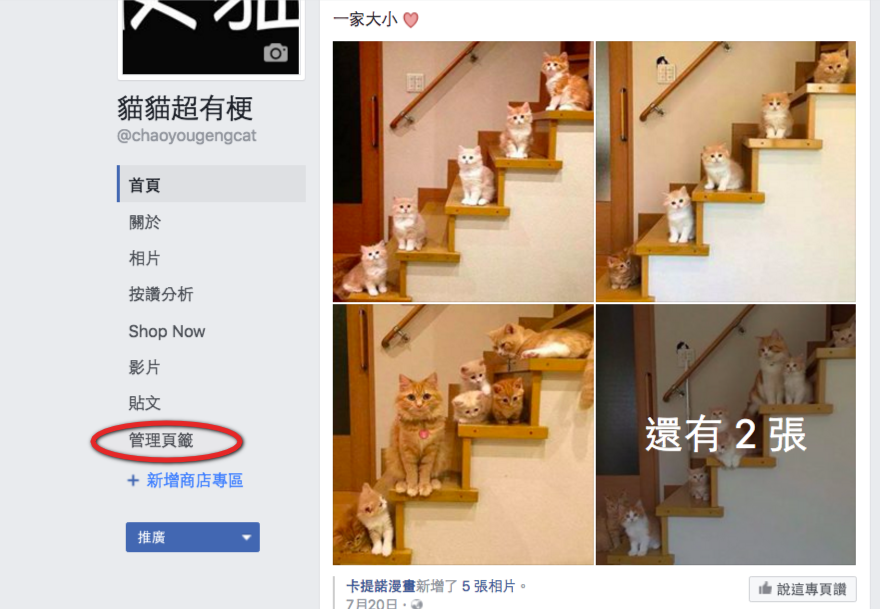 Facebook商店shop now設定