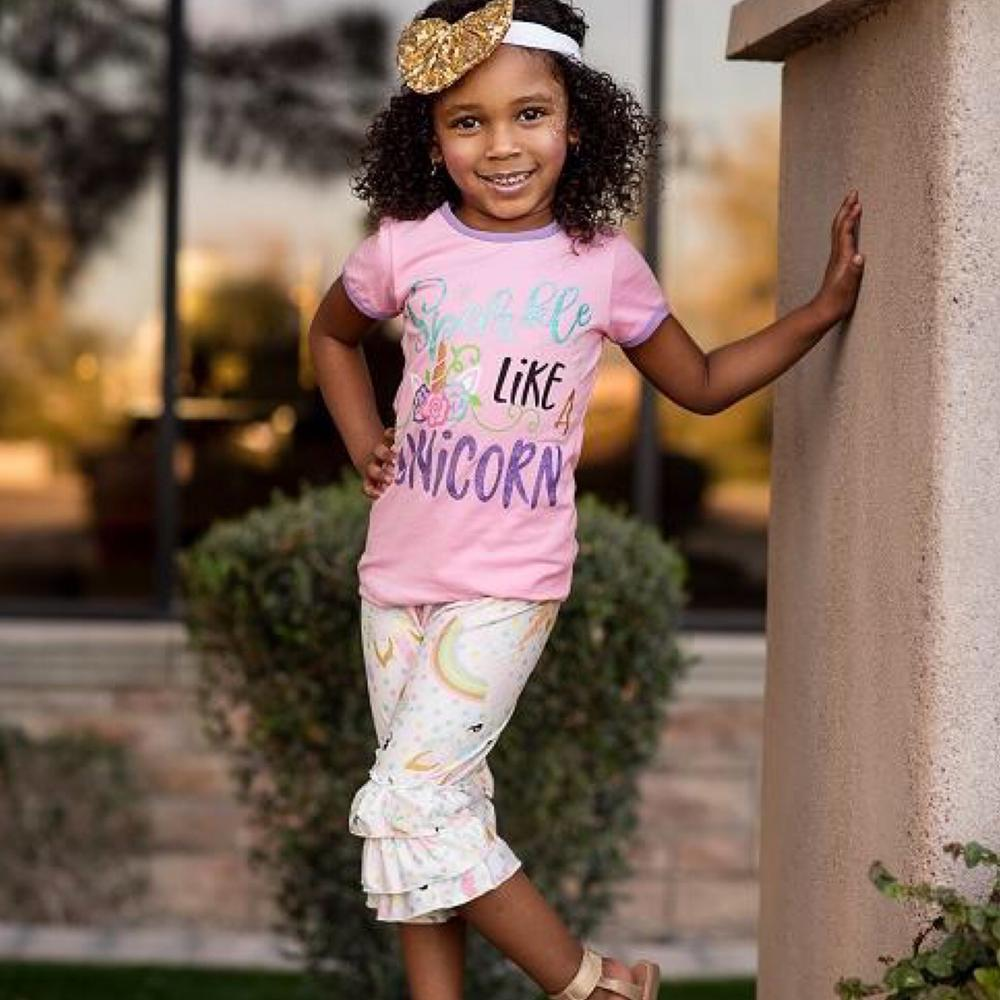 Sparkle Like A Unicorn Shirt And Trousers 8Years