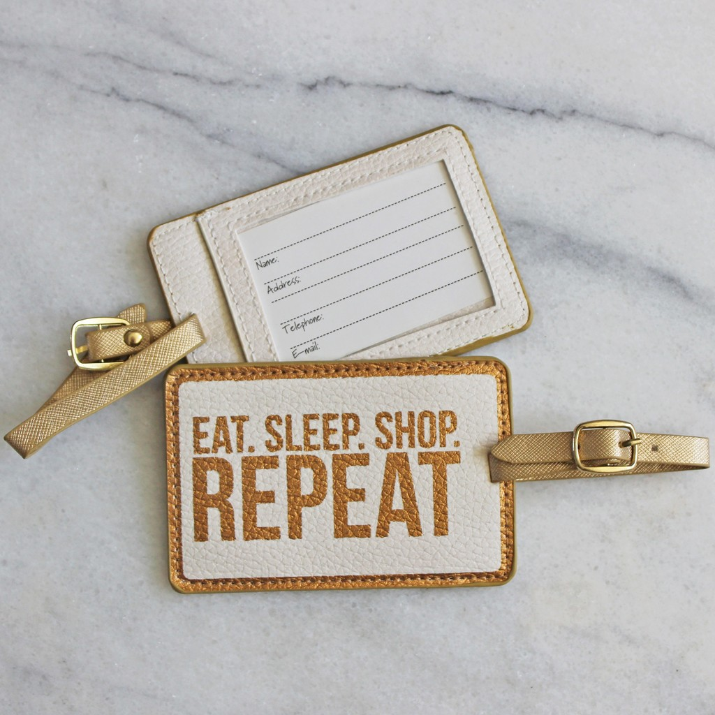 Luggage Tags - Eat.Sleep.Shop.