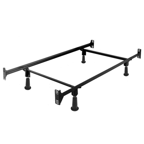 Twin size High Rise Metal Bed Frame with Headboard and Footboard Brackets