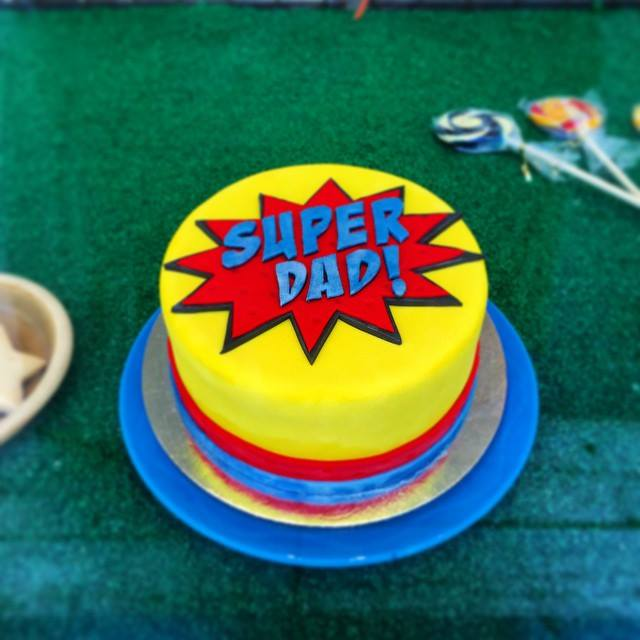 super dad cake fathers day 2015
