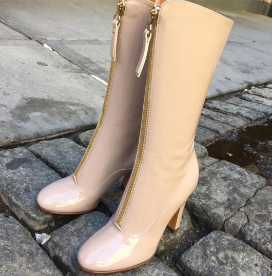 THIS JUST IN...Patent Leather Valentino boots...