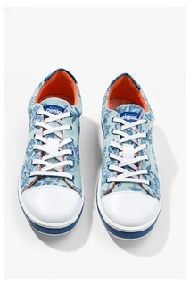 Desigual - Woman - Women's blue sneakers - Super Happy..