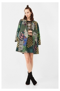 Desigual - Woman - Straight-cut high neck coat - Raquel -..