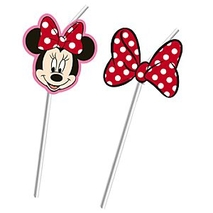 Minnie <b>Mouse</b> Bendy Straws, Set of 6