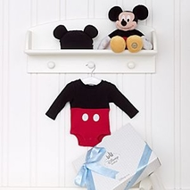 Mickey Mouse Personalised Baby Costume <b>gift</b> Set