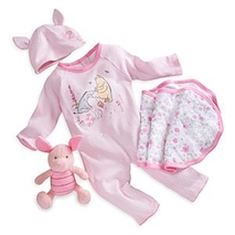 Piglet Welcome Home Baby <b>gift</b> Set, Winnie the Pooh