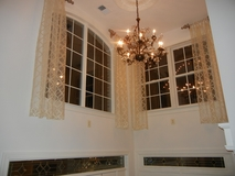 Sheer in foyer