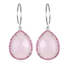 Paris Teardrop-Strawberry Pink Silver