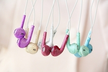 Crystal Earphones Earbud Headphone Headset