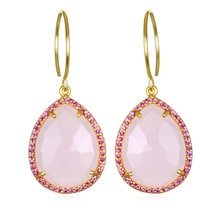 Paris Teardrop-Strawberry Pink Gold
