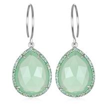 Paris Teardrop-Mint Green Silver