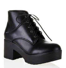 Cleated Lace-Up Ankle Boot
