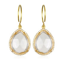 Paris Gem Teardrop - Clear Gold