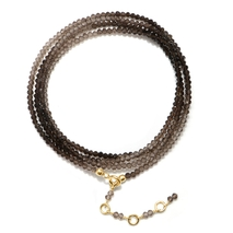Semi-Precious Wrap Bracelet Smoky Gold