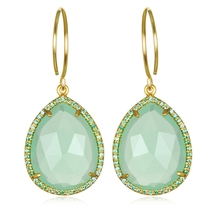 Paris Teardrop-Mint Green Gold